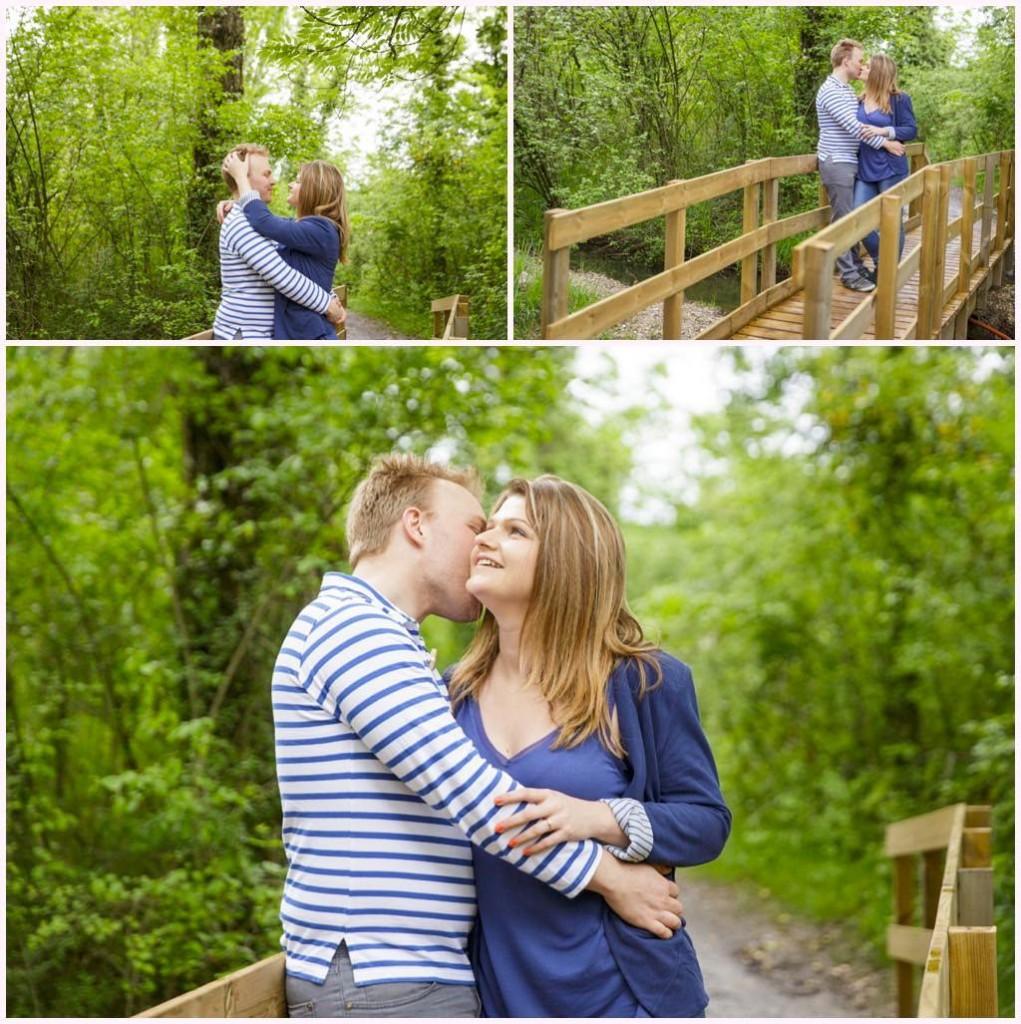 séance photo engagement couple au bord du lac saint andre entre grenoble et chambery