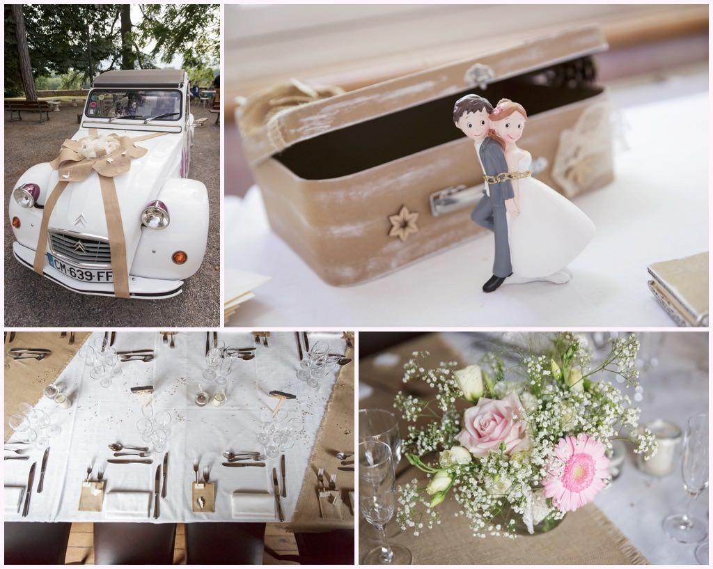 décoration mariage romantique mariage château comtes de challes photographe mariage chambery