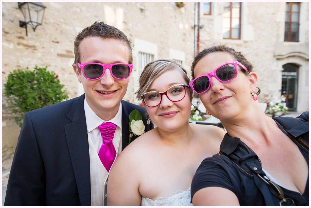 mariage rose château chapeau cornu photographe mariage aurelie allanic