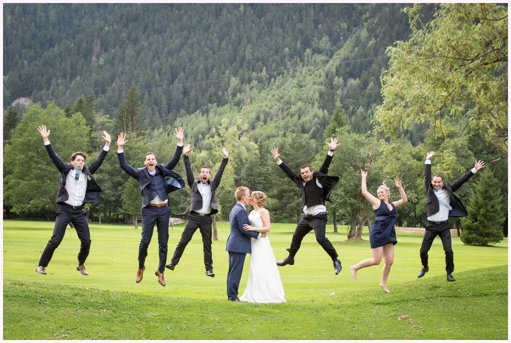 mariage cabane des praz chamonix photo groupe délire aurelie allanic photographe