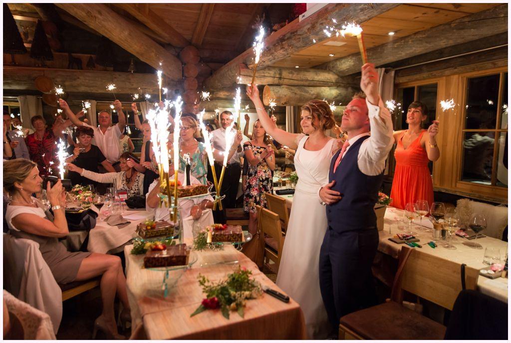 soirée mariage chamonix cabane des praz
