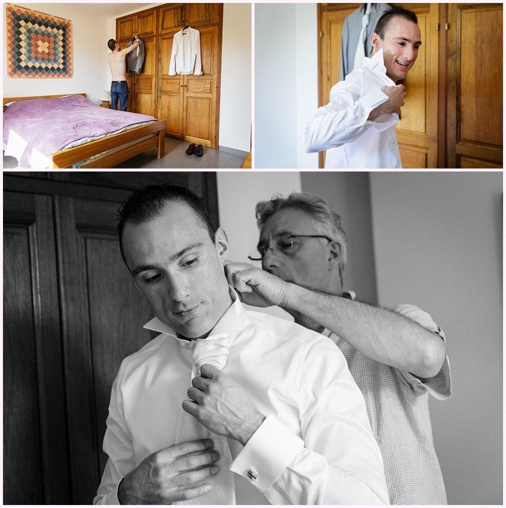 photographe mariage provence habillage du marié aurelie allanic