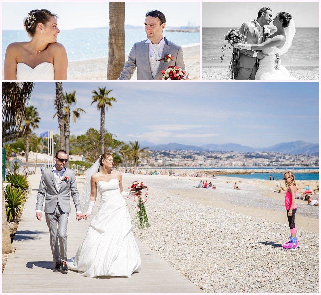 photographe mariage bord de mer antibes plage