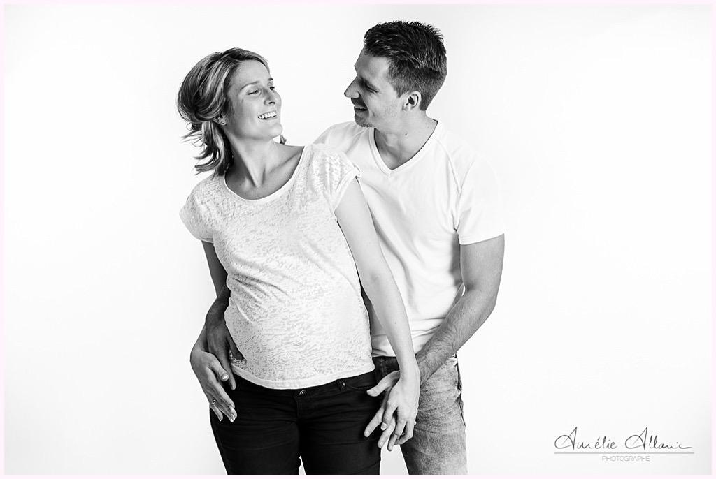 séance photo studio grenoble grossesse en attendant bébé