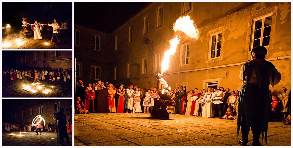 cracheur de feu spectacle mariage medieval nozeroy photographe aurelie allanic