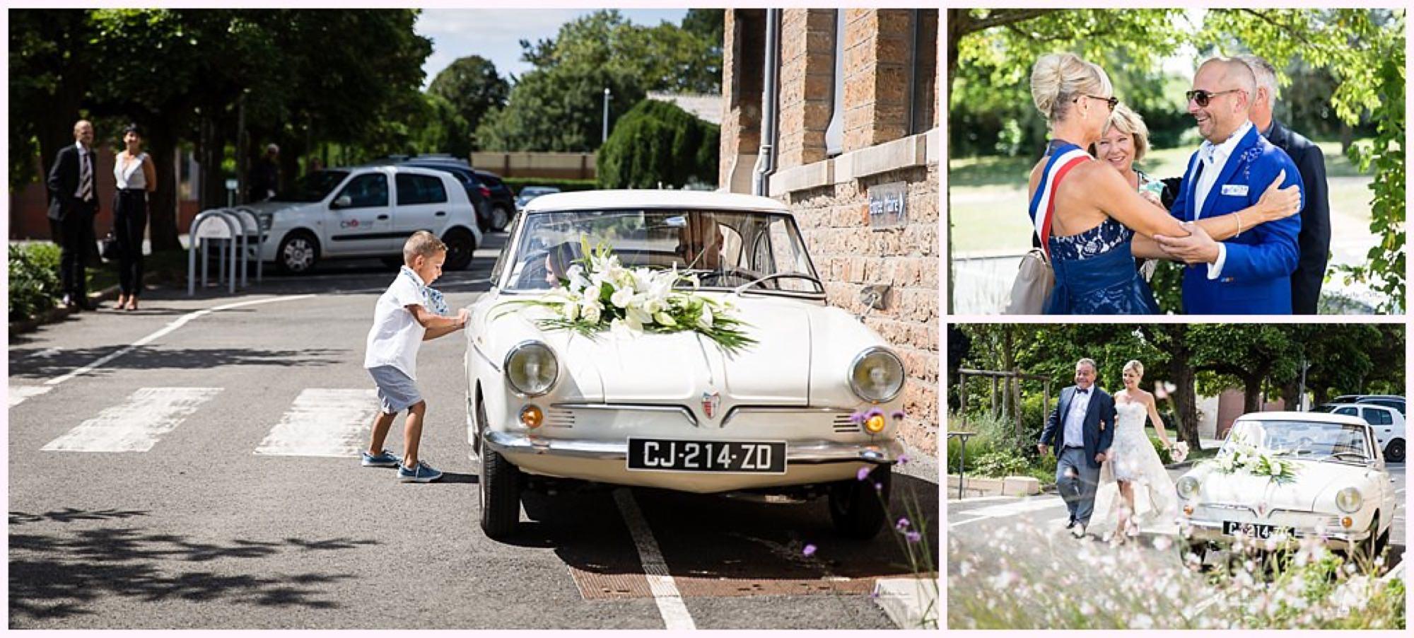 mariage mairie vieille voiture