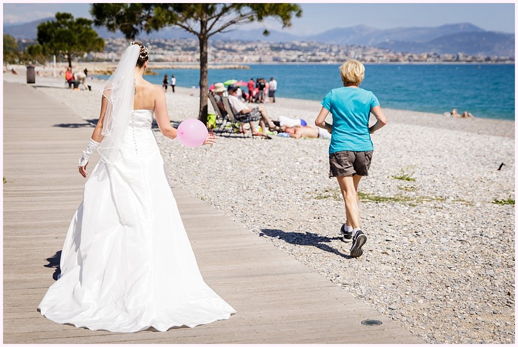 photographe mariage bord de mer antibes plage aurélie allanic
